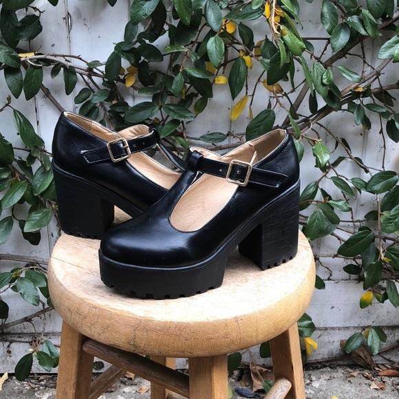 Black Platform Heel Doll Shoes   Poshmark